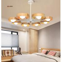 Wholesale Nordic wood chandelier lamp modern minimalist dining room den bedroom living room chandelier creative personality Wooden from china suppliers
