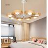 Buy cheap Nordic wood chandelier lamp modern minimalist dining room den bedroom living room chandelier creative personality Wooden from wholesalers