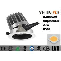 Buy cheap Adjustable High CRI Aluminum 20W 3000K COB Tiltable Cut Out 110mm LED Downlight/R3B0629 from wholesalers