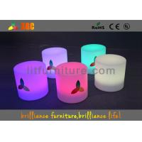 Wholesale LED Round Bar Stools Glowing Furniture , Modern Bar Furniture from china suppliers