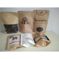 Wholesale Zipper Top Customized Paper Bags With Oval Window For Quinoa Seeds Packaging from china suppliers