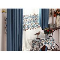 Wholesale Interior Window Sun Protection Curtains , Jacquard Blackout Curtains 2.8 Meters Width from china suppliers