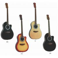 Wholesale Senior Round Back Cutaway Spruce Electric Acoustic Guitar / Western Guitar Professional 3 Band AF4120CR-EQ2 from china suppliers