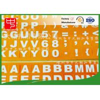Wholesale Small hook and loop dots Customized  LOGO print alphabet letters Cold resistance from china suppliers
