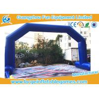 Wholesale Dark Blue Inflatable Advertising Products , Inflatable Archway / Arch Door For Game from china suppliers