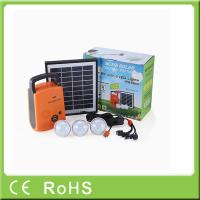 Wholesale 4W 9V lithium battery with radio portable lighting panel home solar systems from china suppliers