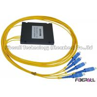 Wholesale Single Mode 1x4 Fiber PLC Splitter with ABS Box And G657A 2.0mm SC Fiber Pigtail from china suppliers