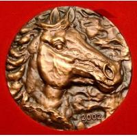 Wholesale brozne relief horse head sculpture from china suppliers