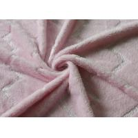 Wholesale 5mm Bright Silk Flannel Fleece Fabric Pink Color Skin Friendly from china suppliers