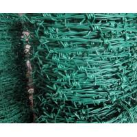 Wholesale 2 Strands Weaving Plastic Vinyl Coated Barbed Wire Mesh With Electro Zinc Iron Wire from china suppliers
