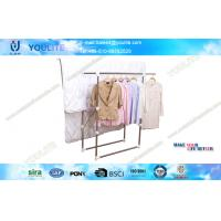 Wholesale Space-saving Commercial Clothing Rack , Balcony Indoor Clothes Drying Rack from china suppliers