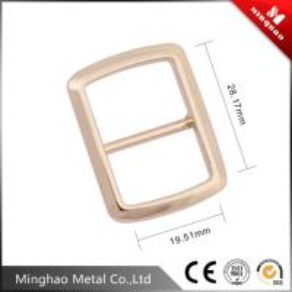 Suitable nylon webbing zinc alloy metal tri-glide buckle 19.51*28.17mm,bag adjustable buckle