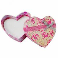 Wholesale Pink Heart Shaped  Bracelet Jewellery Box Cardboard For Skin Care Cream from china suppliers