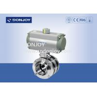 Buy cheap Stainless Steel Sanitary Aluminum Acutor 3 Pecies Flange Butterfly Valves from wholesalers
