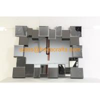Wholesale FR-16724  clear mirror color 3D rectangle shape venetian  wall mirror from china suppliers