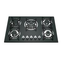 Wholesale Black Stainless Steel 5 Ring Gas Cooker With Pulse Auto Ignition 580mm Length from china suppliers