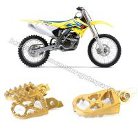 Wholesale Left / Right Anodized Several Colors Dirt Bike Foot Pegs Suzuki RMZ 250 450 from china suppliers