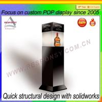 Wholesale New Design Standing Wood Wine Box Display Stand with Drawers from china suppliers
