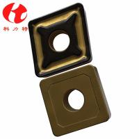 SNMG250924 Hard Alloy Tungsten Carbide Inserts Yellow Color Turn Parts For Semi Finish