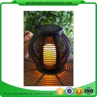 Wholesale Medium Round Outdoor Rattan Solar Lantern With 2V / 80MA Solar Panel from china suppliers