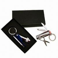Wholesale Multifunctional Flashlight Keychain in Gift Box from china suppliers