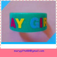 Wholesale wide glitter silicone rubber wristbands from china suppliers