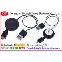Wholesale Retractable Charging Cable USB2.0 to Micro USB cord reel from china suppliers