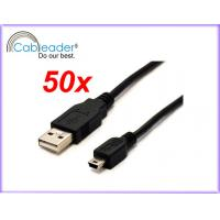 Wholesale USB A Male to Mini B 5-Pin Sync Data Charger Cable Wholesale Lot from china suppliers