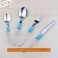 Wholesale Snowy White Transparent Plastic Handle Cutlery,Flatware Set from china suppliers