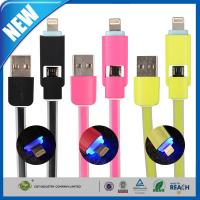 Wholesale Duo 2-in-1 USB Data Transfer Cable Sync Charge With Lightning from china suppliers