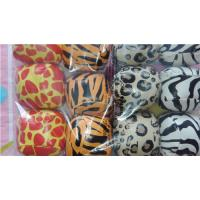 Wholesale Zoo Party - Vinyl Animal Print Kick Ball Hacky Sack 5cm dia 144pcs from china suppliers