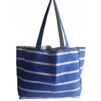 Wholesale polyester stripe shopping bag from china suppliers