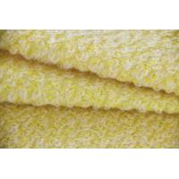 Wholesale Big Loop Style Double Knitting Wool Apparel Fabric Yellow Color from china suppliers