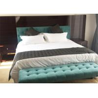 China Queen Size Solid Wood Bedroom Furniture High Density Foam / Metal Coil Springs on sale