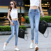 Wholesale Cream  White Womens Slim Straight Leg Jeans ,  Low Rise Boot Cut Jeans from china suppliers