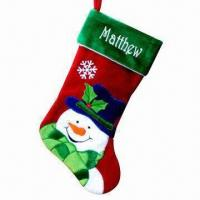 Wholesale Christmas Stocking, Available in Various Designs/Materials/Sizes, Customized Logos Welcomed from china suppliers