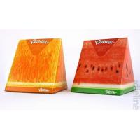 Quality Colorful Eco Triangle Cardboard Boxes Fruit Shaped For Tissue Paper Packaging for sale