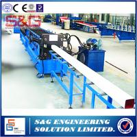 Wholesale Square Water Downspout Roll Forming Machine With Safety Cover And Pipe Crimping Machine from china suppliers