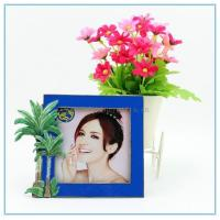 Wholesale Shinny Gifts Metal handmade cocoanut trees photo frame for home decoration from china suppliers