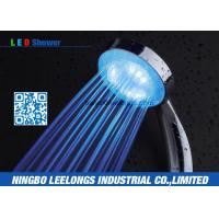 Wholesale 8 Inch Rain Shower Head LED Blue Good Pressure Water Efficient Eco Friendly from china suppliers