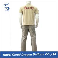 Quality Middle East Beige Security Guard Uniform Short Sleeve With Custom Logo / Label , CNAS Listed for sale