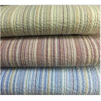 Wholesale Colored Striped Linen / Cotton Seersucker Fabric 32*30 / 80*70 from china suppliers