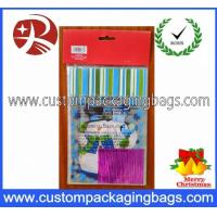 Wholesale Transparent Airtight Plastic Treat Bags Die Cut Handle With Snowman Photo from china suppliers