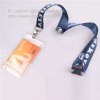 Wholesale Customized printed nylon lanyard with vertical plastic badge from china suppliers