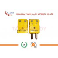 Wholesale IEC standard k type thermocouple connector and plug with yellow color / green color used for thermocouple sensors from china suppliers