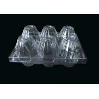 Wholesale 6 Cavities Clear Plastic Egg Cartons recycled For Storage , Egg tray from china suppliers
