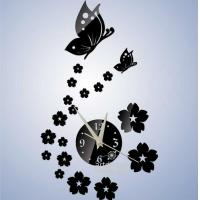 Quality Unique Gift The Butterfly and Flowers Design 3D Best Home Decoration Mirror Wall for sale