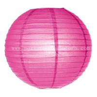 Wholesale Hot Pink Paper Lanterns for Weddings / 6 Inch Party Decorations Lanterns from china suppliers