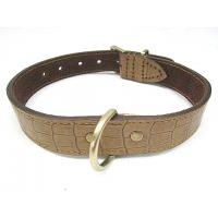 Wholesale Genuine crocodile leather dog collar L size for big dogs big discount from china suppliers