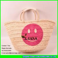 Wholesale LUDA fashion women summer cornhusk straw bag straw tote bags from china suppliers